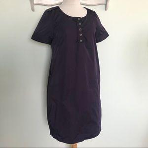 82bd82c16dd Burberry London purple short Sleeve Shift Dress